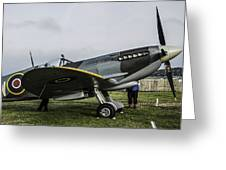 Spitfire Mk Xvie Greeting Card