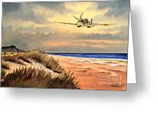 Spitfire Mk9 - Over South Coast England Greeting Card