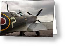 Spitfire On Display Greeting Card