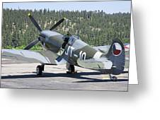 Spitfire On Takeoff Standby Greeting Card