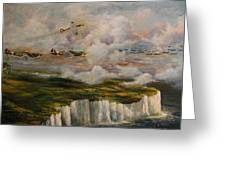 Spitfire's Over Dover Greeting Card