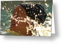 Splash And Giggle Greeting Card
