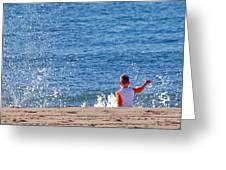 Splash Conductor Greeting Card