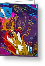 Splash Of Hendrix Greeting Card