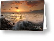 Splash Of Paradise Greeting Card by Mike  Dawson