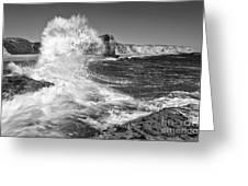 Splash - Panther Beach In Santa Cruz California. Greeting Card