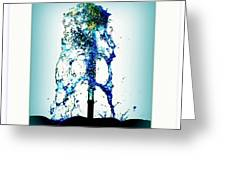 Splashing Fountain Greeting Card