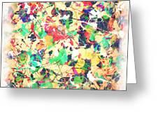 Splashing Paints Greeting Card