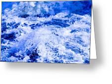 Splashing Water In Rapid River Greeting Card
