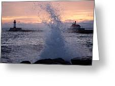 Splashy Sunrise Greeting Card