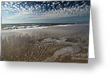 Splattered Clouds Greeting Card by Adam Jewell