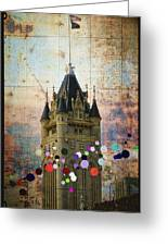 Splattered County Courthouse Greeting Card