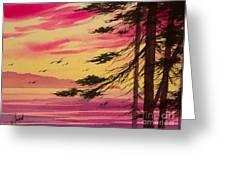 Splendid Sunset Bay Greeting Card