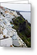 Splendor Of Santorini Greeting Card