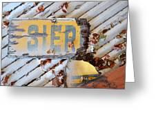 Splintered Signage Greeting Card