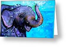 Splish Splash Greeting Card by Debi Starr