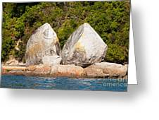 Split Apple Rock Near Abel Tasman Np In New Zealand Greeting Card