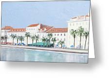 Split Croatia Adriatic Coast Greeting Card