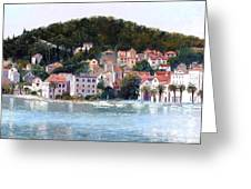 Split Harbour Croatia Greeting Card