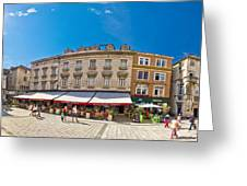 Split Historic Square Panoramic View Greeting Card