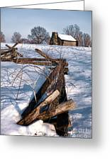 Split Rail And Nation Greeting Card