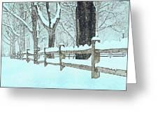Split Rail Blues Greeting Card by John Stephens