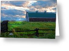 Split Rail Fence Barn Greeting Card