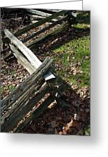 Split Rail Fence Greeting Card