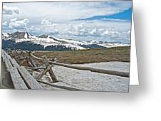 Split Rail Fence Near Alpine Visitor's Center In Rocky Mountain Np-co Greeting Card