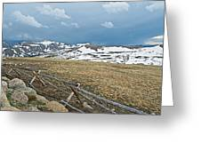 Split Rail Fence On East Side Of Trail Ridge Road In Rocky Mountain National Park-colorado Greeting Card