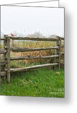 Split-rail Fence - Vertical Greeting Card