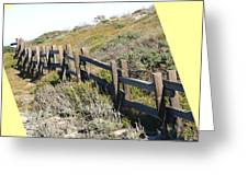 Split Rail Fence Yellow Greeting Card by Barbara Snyder