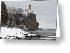 Split Rock Lighthouse Winter 19 Greeting Card