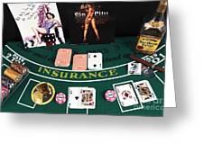 Splitting Aces Greeting Card