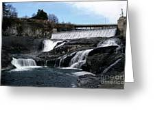 Spokane Falls At Low Tide Greeting Card