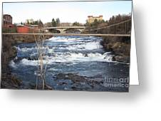 Spokane Falls In Winter Greeting Card