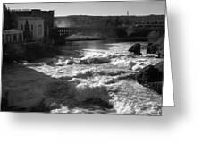 Spokane Falls Spring Flow Greeting Card