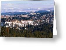 Spokane View 2-4-14 Greeting Card