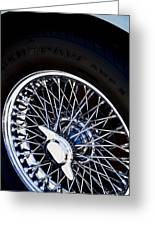 Spokes Greeting Card by Rebecca Cozart