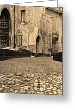 Spoleto Street 3 In Umbria Italy Greeting Card