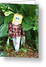 Sponge Bob Scarecrow Greeting Card
