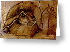 Spooked Hare Greeting Card