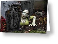 Spookie Lady Greeting Card