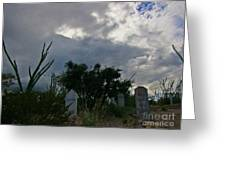 Spooky Boot Hill Cemetery Greeting Card