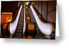 Spooky Escalator At The Brown Palace In Denver Greeting Card