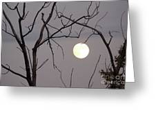 Spooky Moon Greeting Card by Deborah Smolinske