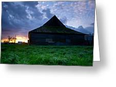 Spooky Shadow Barn Greeting Card