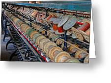 Spools At Lonaconing Silk Mill Greeting Card