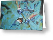 Sports Hockey-2 Greeting Card