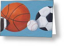 Sports Line Up Greeting Card